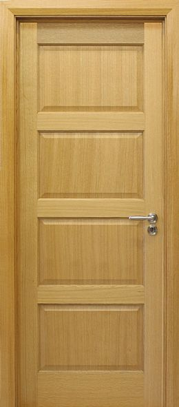 Contemporary 4 Panel White Oak Door (40mm)